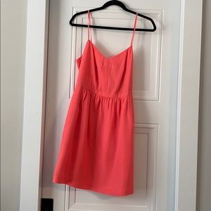 J. Crew Pink Spaghetti Strap Dress